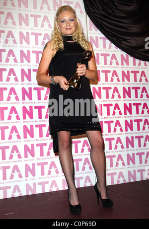 Rita Simons, Winner of 'Best Newcomer Award' National Television Awards 2008 held at the Royal Albert Hall - Press - Stock Photo