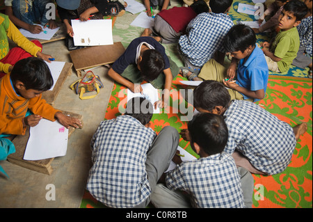 Scene of a rural classroom - Stock Photo