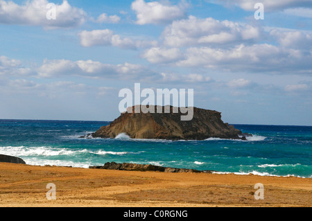 St Georges Rock of the coast at Agios Georgios in Cyprus - Stock Photo
