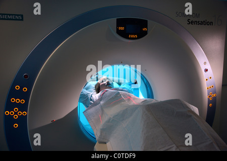 Computed axial tomography, CAT, CT,  in a hospital. Germany - Stock Photo