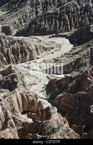 Badlands at Font's Point, Anza-Borrego Desert State Park,  CA 110220 1493 - Stock Photo