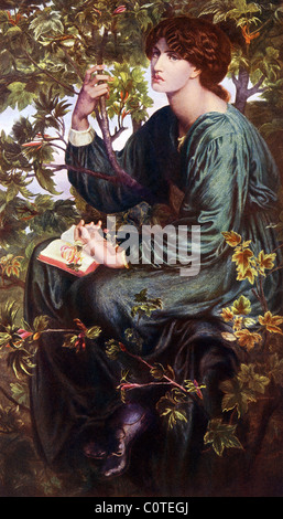 Dante Gabriel Rossetti (1828–1882) painted this portrait of Jane Morris in 1890 and titled it Day Dream. - Stock Photo