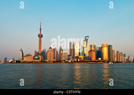 Pudong Skyline, Shanghai, China - Stock Photo