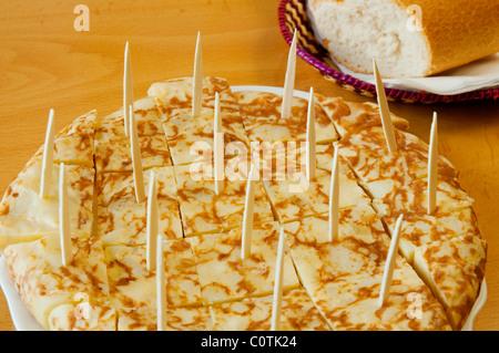 Spanish omelet. Spain. - Stock Photo
