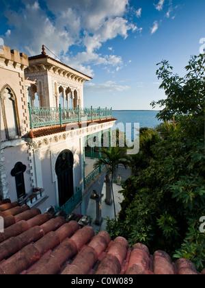 punta gorda palace Cienfuegos exterior - Stock Photo