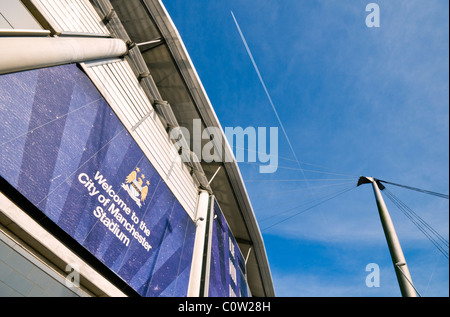 Manchester City's football stadium in England when it was still known as the City of Manchester stadium - Stock Photo