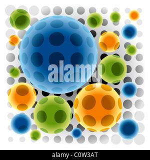 Transparent Color Spheres - Stock Photo