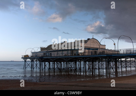 Cleethorpes Pier (slow exposure), North East Lincolnshire Feb 2011 - Stock Photo