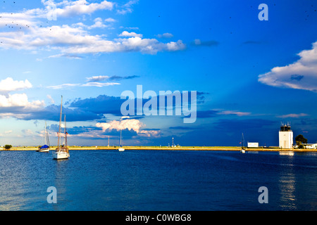 Tampa Bay at Albert Whitted Airport, St. Petersburg, Fl. - Stock Photo