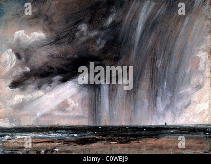Seascape Study with Rain Cloud by John Constable - Stock Photo