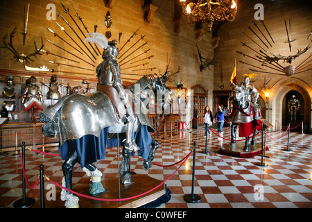 The Great Hall, Warwick Castle, England, UK. - Stock Photo