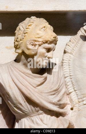 Alexander Sarcophagus archaeological Museum (Archeoloji Müzesi) in Istanbul, Turkey - Stock Photo