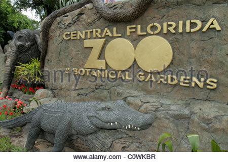 ... Orlando Florida Sanford Central Florida Zoo U0026 And Botanical Gardens  Entrance Sign   Stock Photo