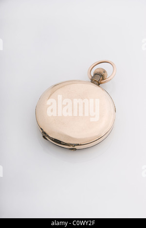 Antique gold watch - Stock Photo