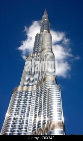 Burj Chalifa, tower, tallest building in the world. Dubai, United Arab Emirates. - Stock Photo