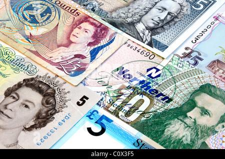 United Kingdom Bank Notes. - Stock Photo