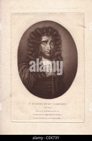 Sir Edmond Bury Godfrey (1621-1678), English magistrate - Stock Photo