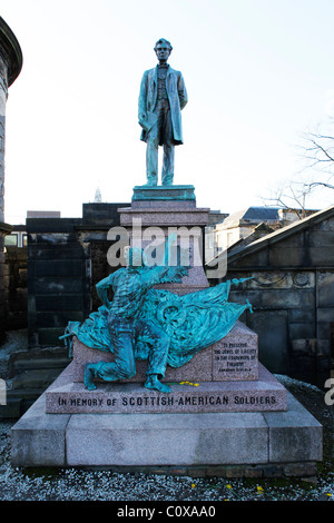 A memorial in honour of the Scottish-American soldiers who fought in the American Civil War of 1861 to 1865. - Stock Photo