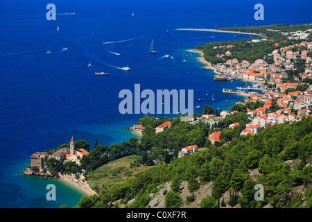 Panorama of Bol town on island Brac. - Stock Photo