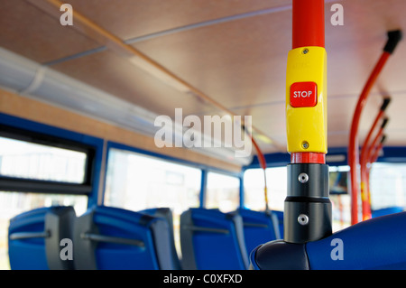 Stop button on a bus - Stock Photo