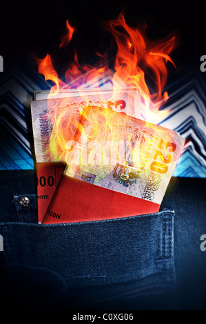 Money to burn - Stock Photo