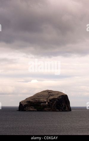 The Bass Rock taken from Tantallon Castle near North Berwick in Scotland - Stock Photo