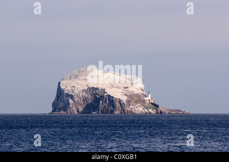 The Bass Rock taken from North Berwick in Scotland - Stock Photo