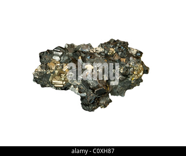 Sphalerite and Pyrite from Romania - Stock Photo