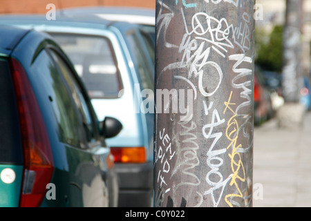 graffiti in city town - Stock Photo
