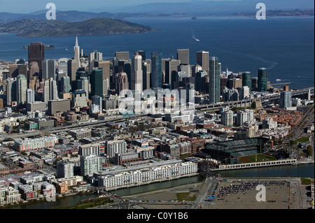 aerial view above San Francisco California - Stock Photo