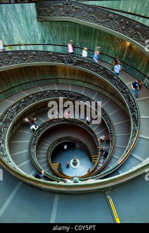 Spiral staircase in the Vatican Museum in Rome, Italy - Stock Photo