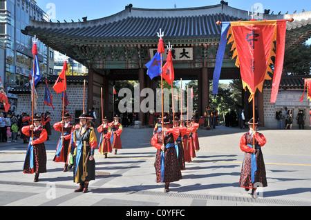 changing the guards ceremony Deoksugung Palace Seoul South Korea - Stock Photo