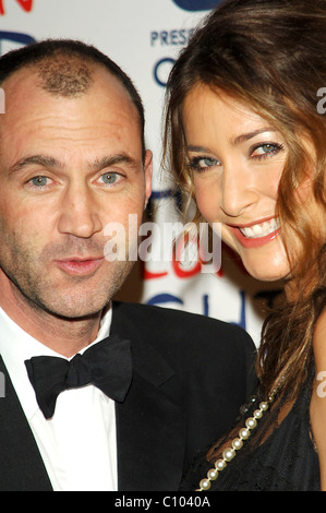 Johnny Vaughan and Lisa Snowdon Capital Radio's Christmas event, which includes champagne reception, three-course - Stock Photo