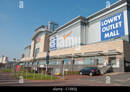 Exterior of the Lowry Outlet Mall and the Vue Cinema, Salford Quays. - Stock Photo
