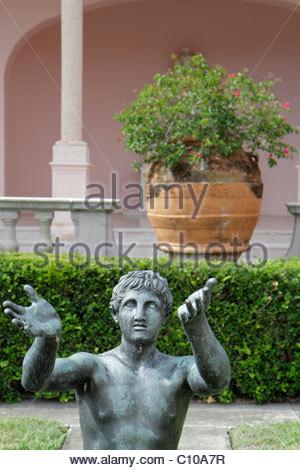 Sarasota Florida John and & Mable Ringling Museum of Art estate classical sculpture - Stock Photo