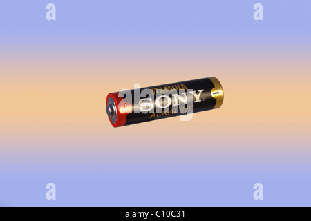 An AA sized battery - Stock Photo