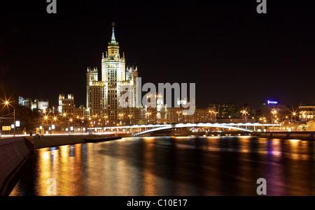 Kotelnicheskaya Embankment, one of Stalin's skyscrapers, Moscow, Russia