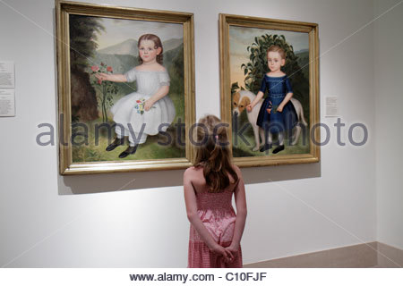 St. Saint Petersburg Florida Beach Drive St. Petersburg Museum of Fine Arts girl paintings - Stock Photo