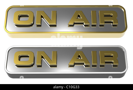'On Air' sign - Stock Photo
