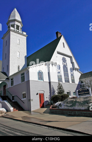 First United Methodist Church, Port Jefferson, Long Island, NY - Stock Photo