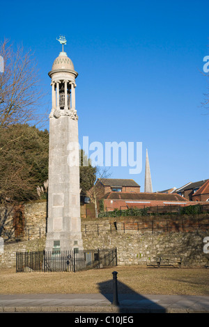 The Mayflower Memorial, Town Quay, Southampton, Hampshire, England, United Kingdom, Europe - Stock Photo