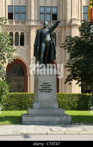 Monument to Erasmus Graf von Deroy, Munich, Bavaria, Germany, Europe - Stock Photo
