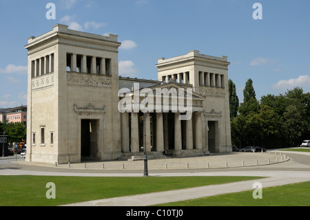 Propylea, Koenigsplatz Square, Munich, Bavaria, Germany, Europe - Stock Photo