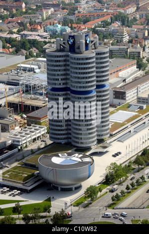 BMW Tower, Munich, Bavaria, Germany, Europe - Stock Photo