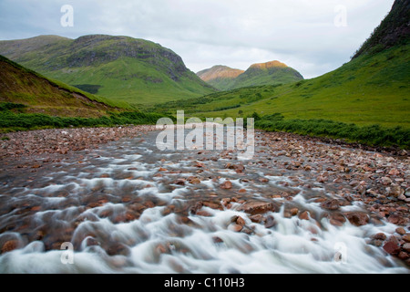 The River Etive in the Glen Etive in the Glen Coe in the Scottish Highlands, Scotland, United Kingdom, Europe - Stock Photo