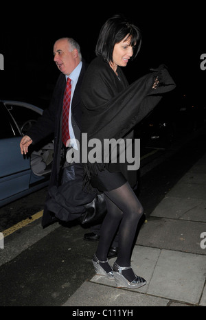 Sadie Frost arrives home after her first night treading the boards in the West End for some time. Upon arrival however, - Stock Photo