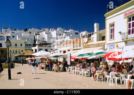 Street restaurants, Albufeira, Algarve, Portugal, Europe - Stock Photo