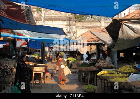 Devaraja Market, Mysore, Karnataka, South India, India, South Asia, Asia - Stock Photo