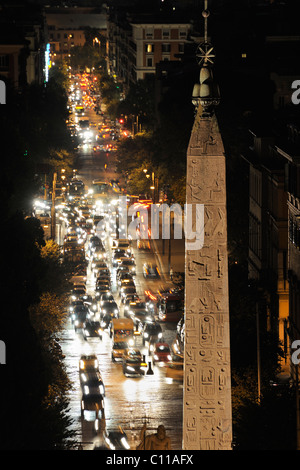 View from the Pincio to the Piazza del Popolo, Rome, Italy, Europe - Stock Photo