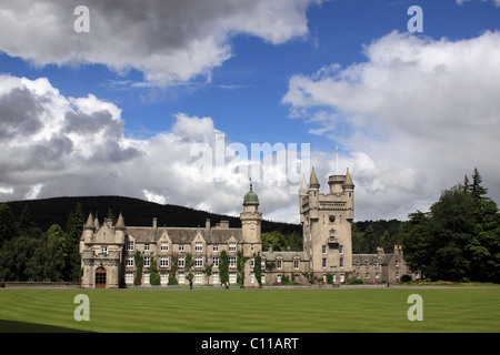 Balmoral Castle, summer residence of the British Royal Family, Scotland, United Kingdom, Europe - Stock Photo